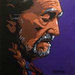 Willie Nelson speed painting